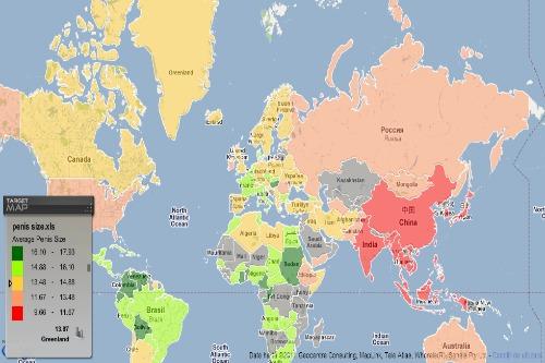 dimensiunea medie a penisului pe hartă