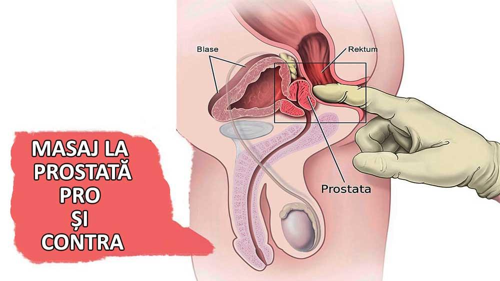 după erecția masajului de prostată)