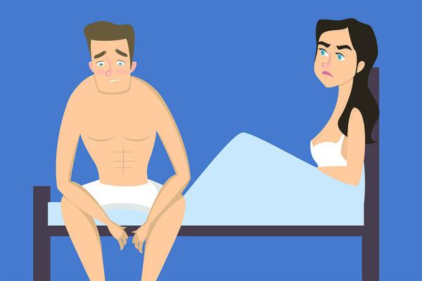 în timpul unei erecții, testiculele nu sunt)