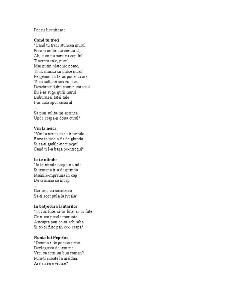 poezii despre penis)