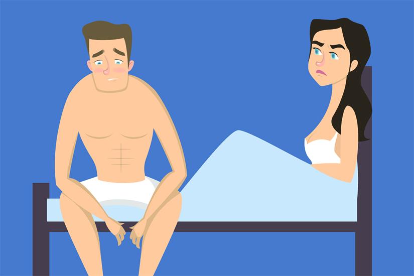 de ce bărbații au scăzut erecția)