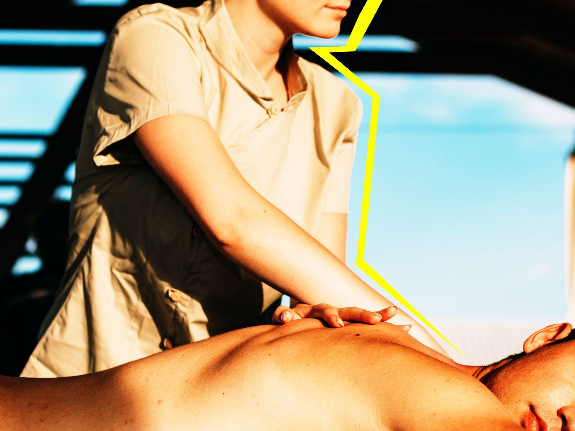 masaj penis în salon)