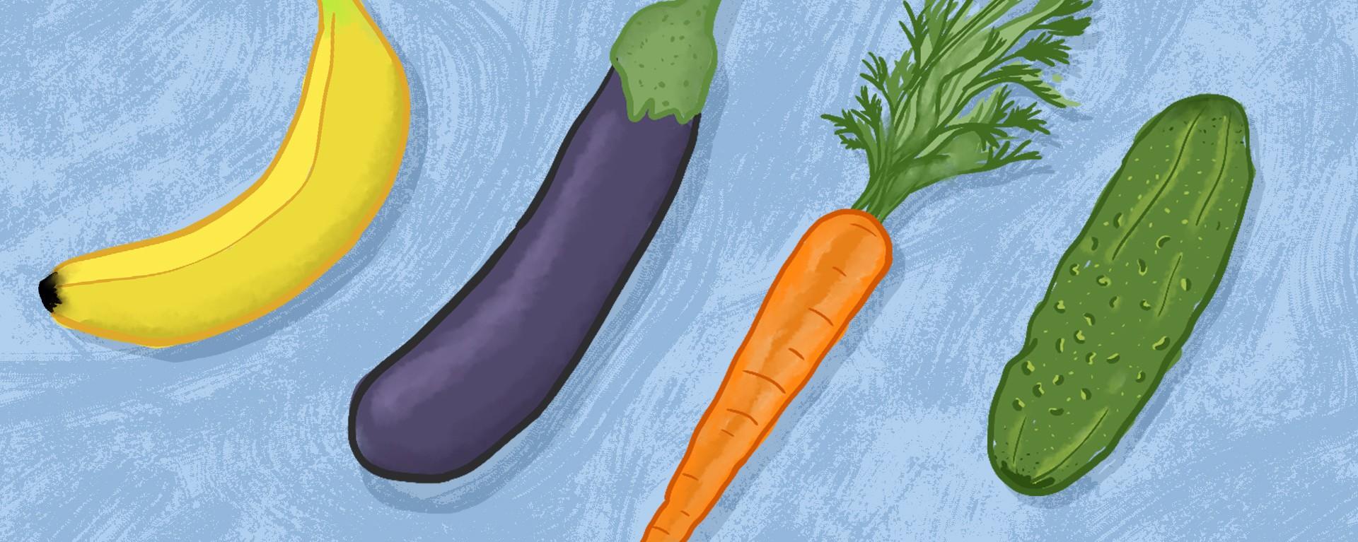 Care fructe și legume crește penis
